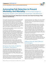Automating Fall Detection to Prevent Morbidity and Mortality: A Personal Emergency Response System with Optimized Automatic Fall Detection Considerations for Case Management
